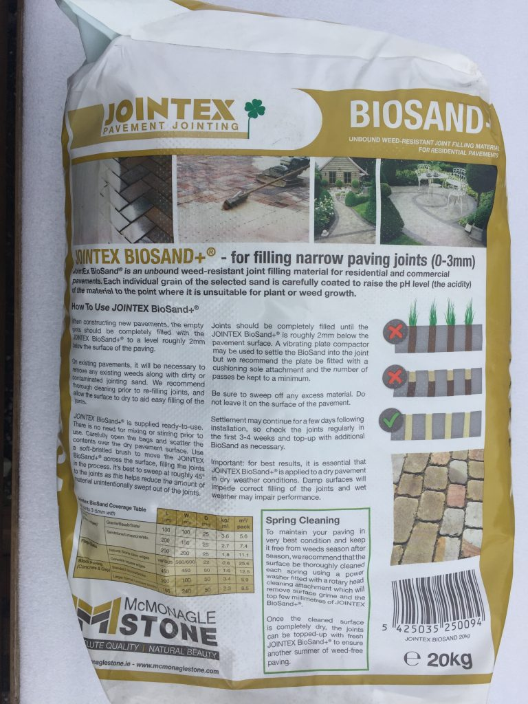 1 x Jointex Biosand 20Kg